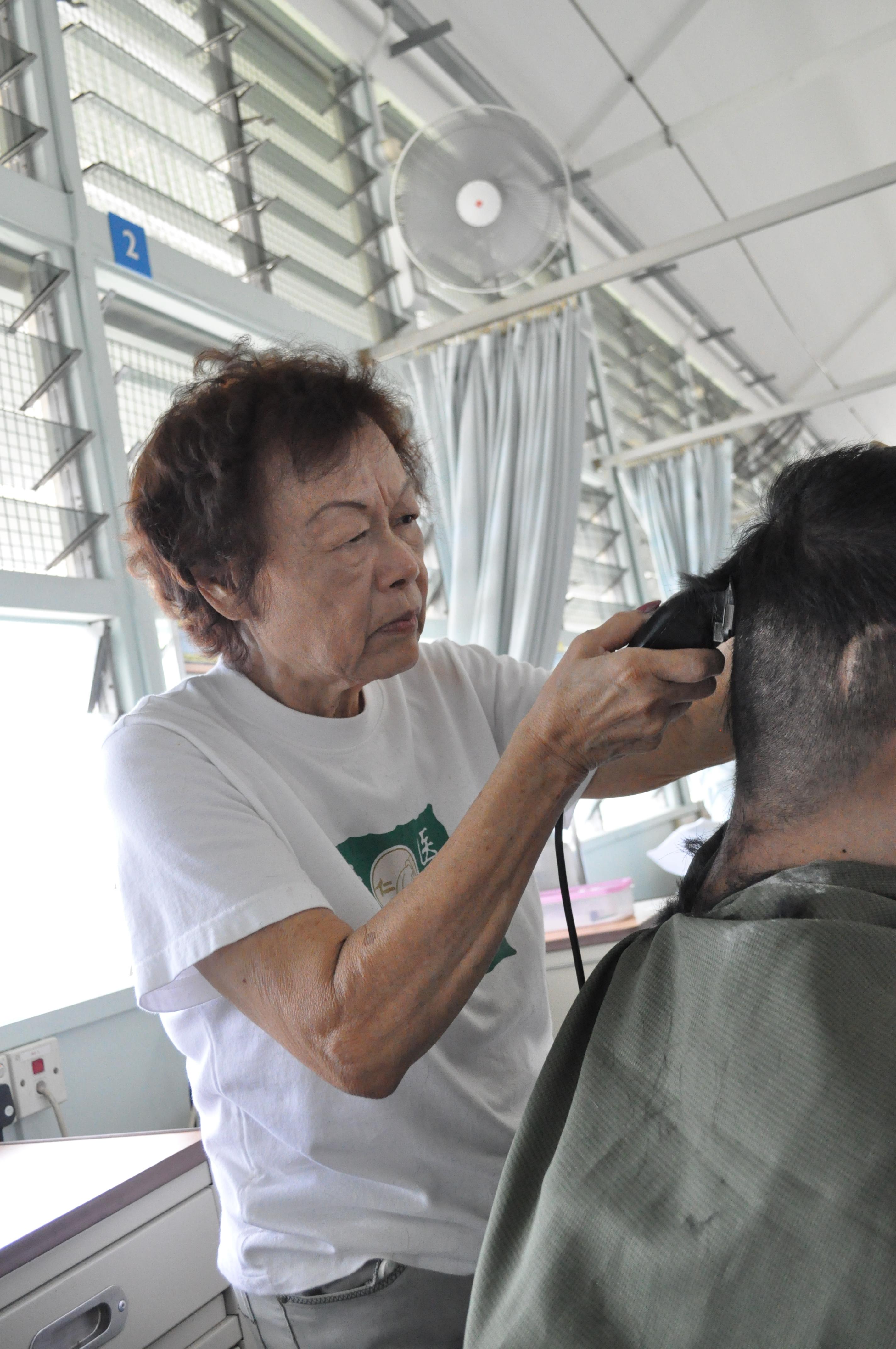 Oldest volunteer at Ren Ci Hospital
