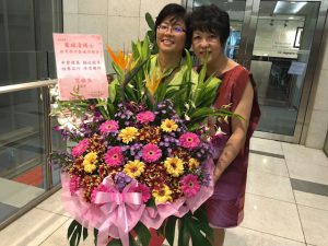 Swee Cheng, left, with Jocelyn Bay.