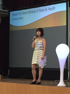 Dr Amy Khor at the launch of the Hong Kah North DFC.