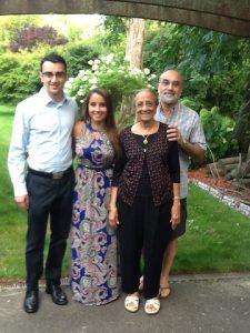 Amta with her elder son and grandchildren.