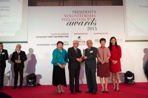 RSVP's Ngiam Tong Yuen receiving the award last year.