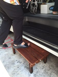The step for the van.