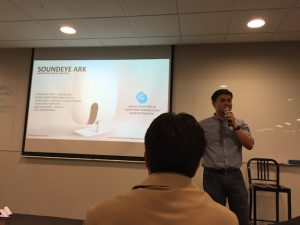 Dr Tan Yeow Kee showing off his SoundEye ARK monitoring system.