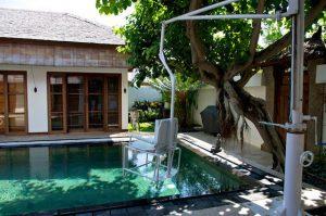 A pool hoist in a Bali location.