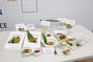 Some of the ready-to-eat, texture-modified foods on display.