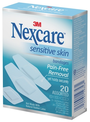 Nexcare Sensitive Skin Bandages.