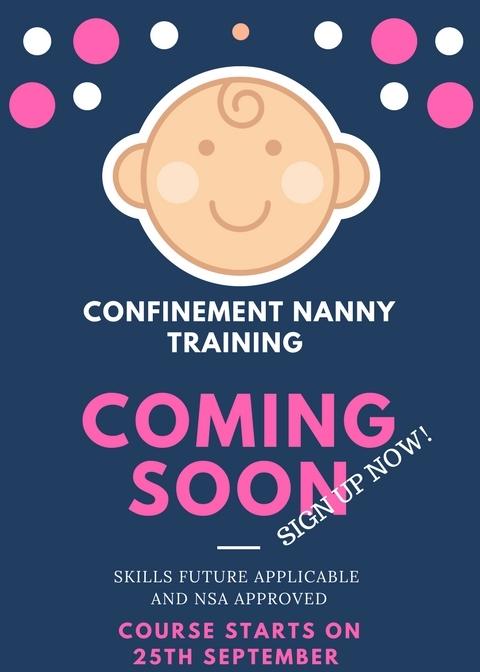 Confinement nanny course for women